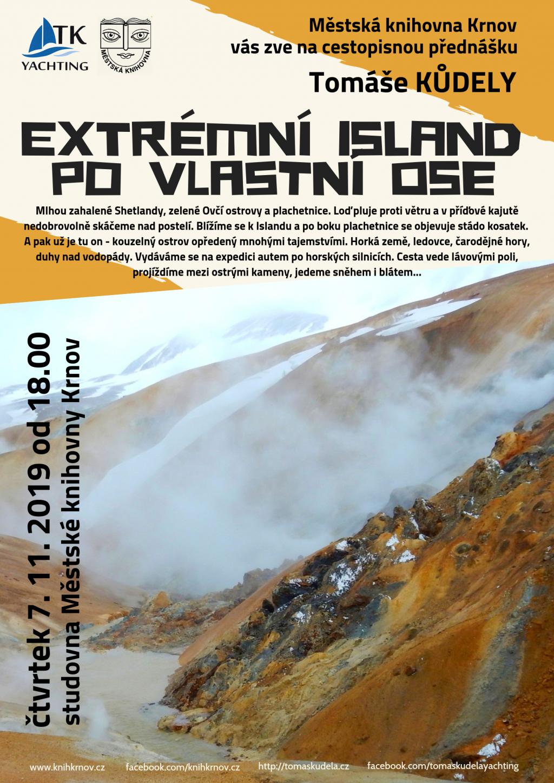 Přednáška: Extrémní Island po vlastní ose: Tomáš Kůdela
