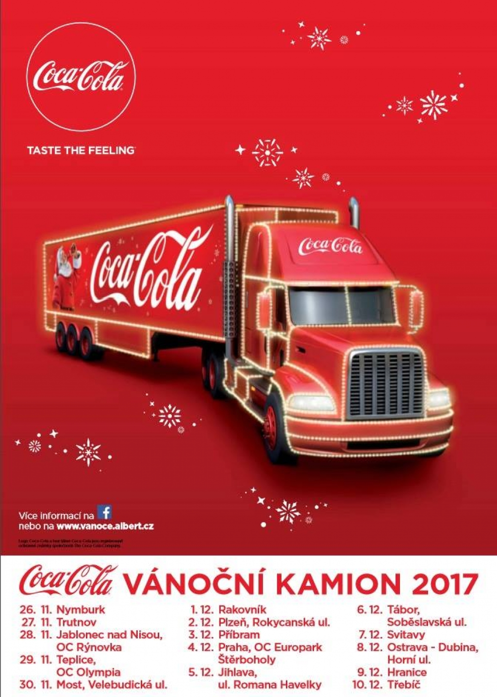 Vánoční kamion Coca-Cola 2017 - Třebíč