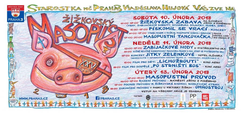 25. Žižkovský masopust v Praze 2018