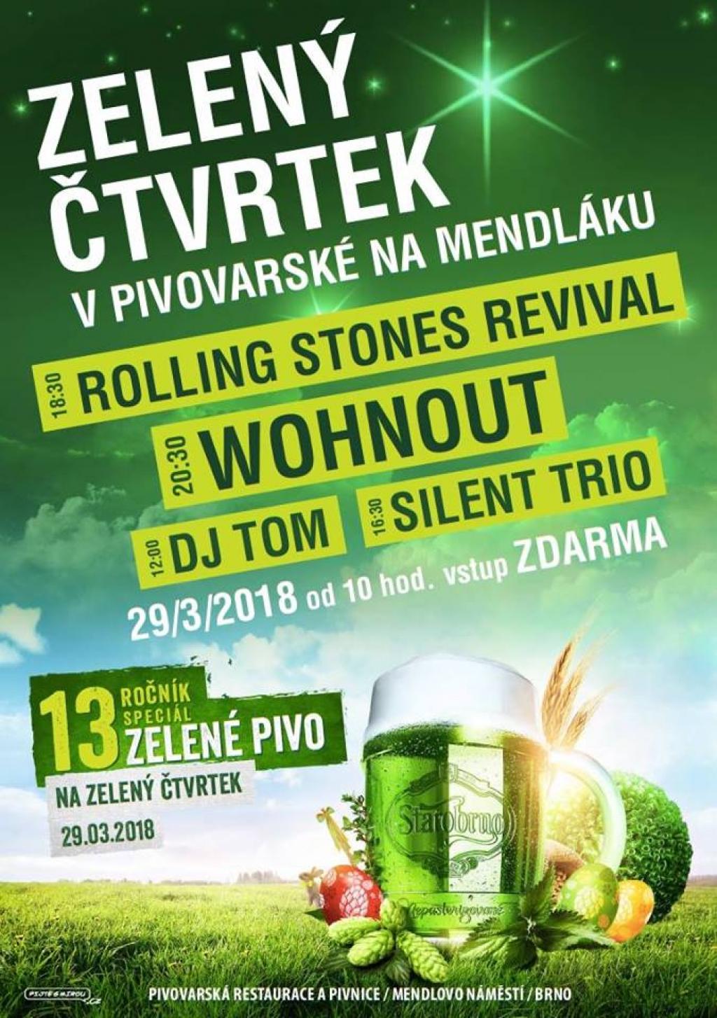 Zelený čtvrtek v Pivovarské na Mendláku 2018