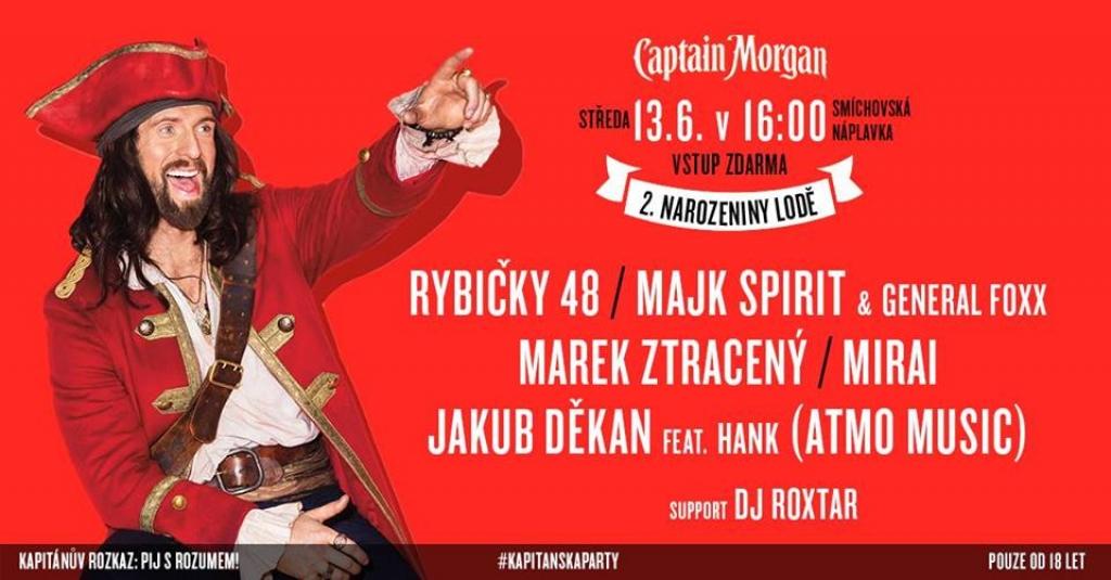 Kapitánská Párty - 2. narozeniny Lodě Captain Morgan