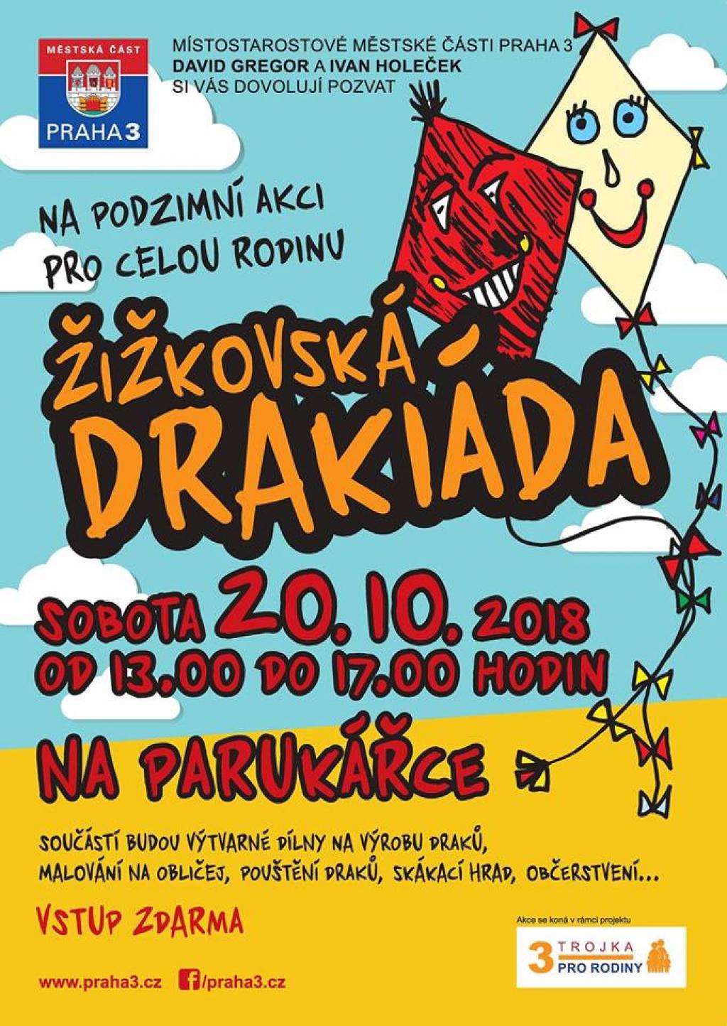 Žižkovská drakiáda 2018