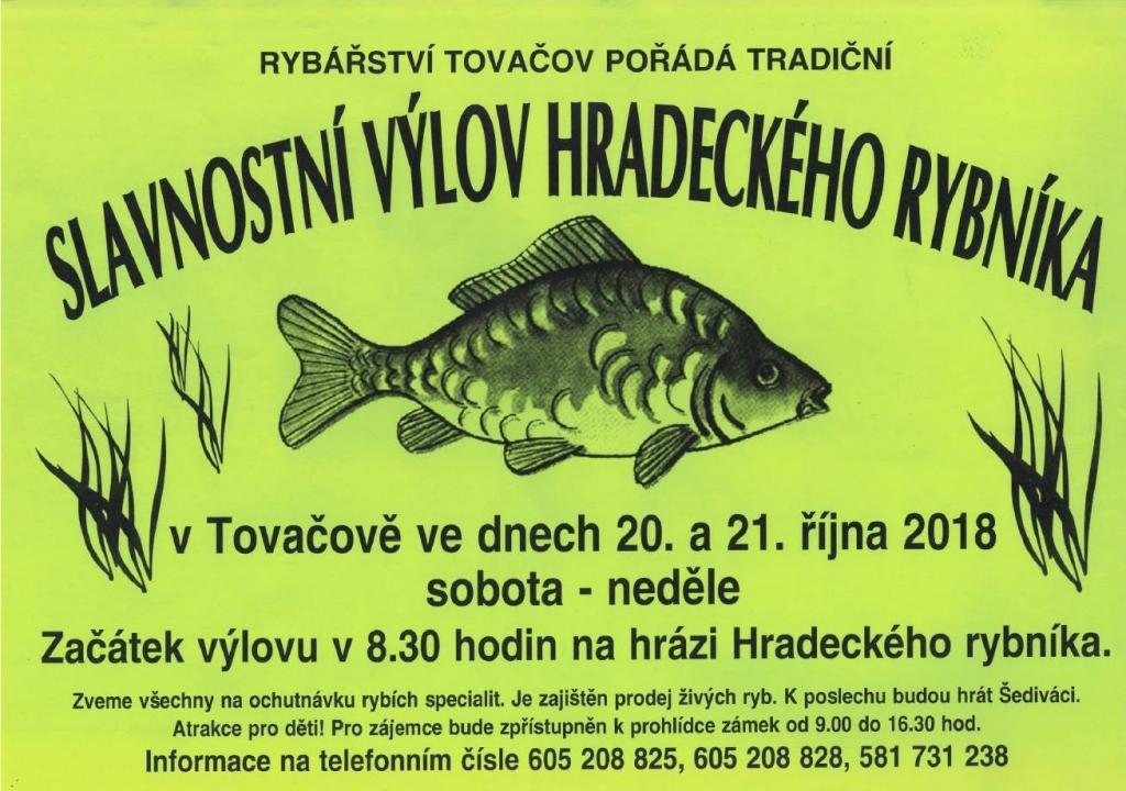 Slavnostní výlov Hradeckého rybníka 2018 - rybářství Tovačov