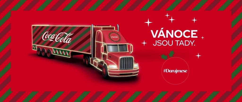 Vánoční kamion Coca-Cola 2018 - Plzeň