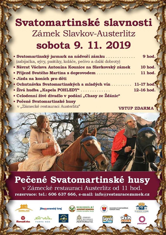 Svatomartinské slavnosti na zámku Slavkov u Brna 2019