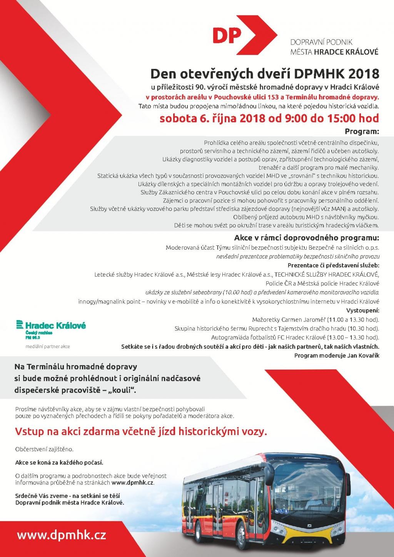 Den otevřených dveří DPMHK 2018