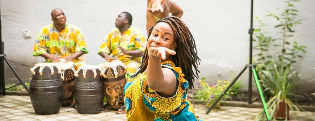 Workshop tradičního afrického tance ghanské oblasti