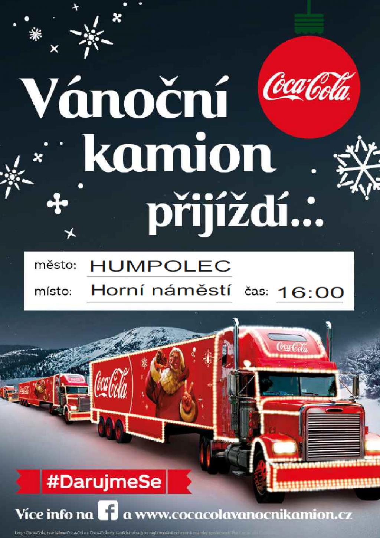 Vánoční kamion Coca-Cola 2018 - Humpolec