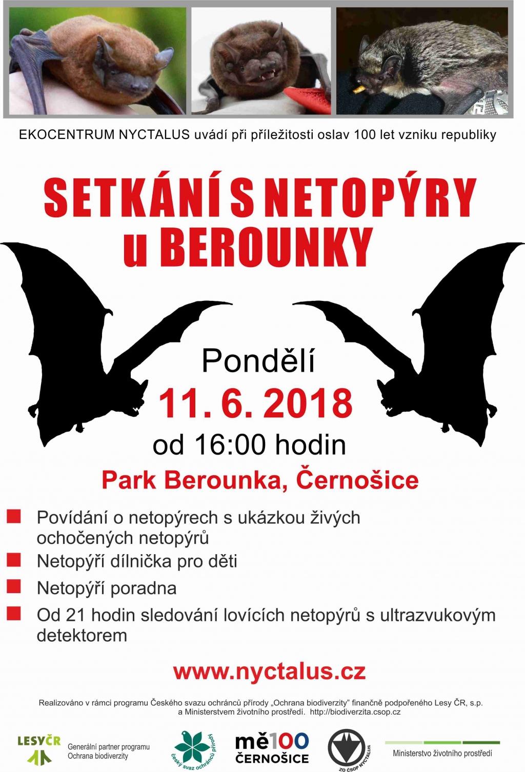 Setkání s netopýry u Berounky