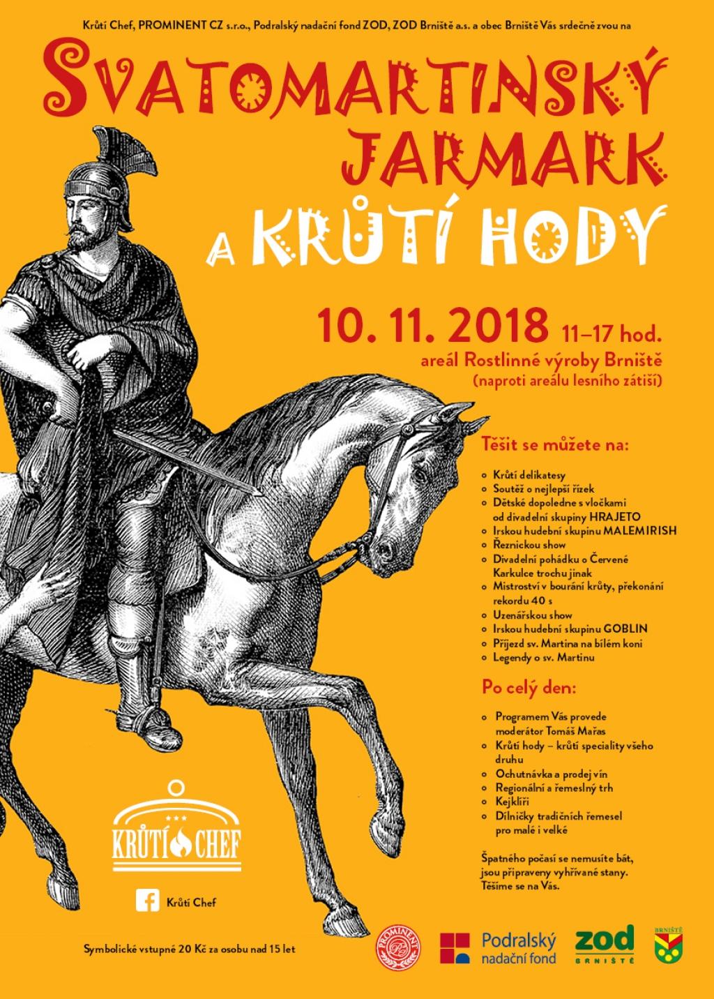 Svatomartinský jarmark, Krůtí hody a Festival řemesel Brniště 2018