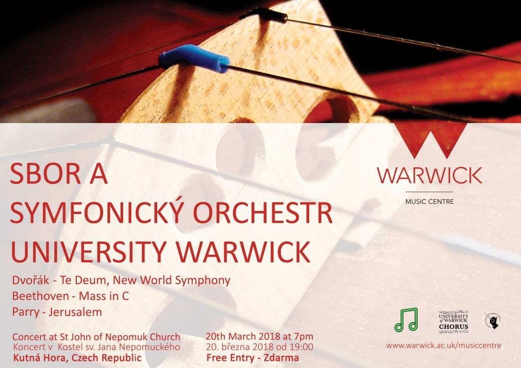 Koncert Sbor a Symfonický Orchestr University Warwick