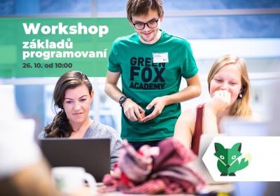 Workshop a informační schůzka pro zájemce o part-time kurz programování