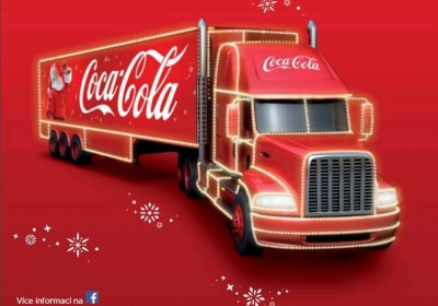 Vánoční kamion Coca-Cola 2017 -  Nymburk
