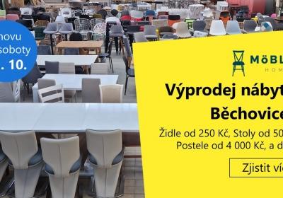 Výprodej skladu nábytku Běchovice