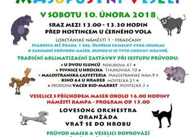 Malostranské masopustní veselí 2018