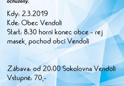 Vendolský Masopustní průvod 2019