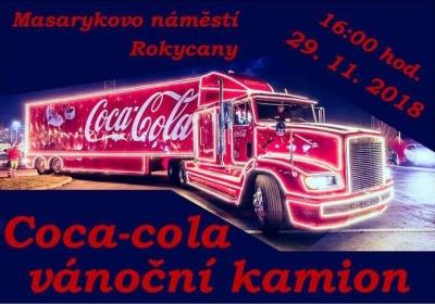 Vánoční kamion Coca-Cola 2018 - Rokycany
