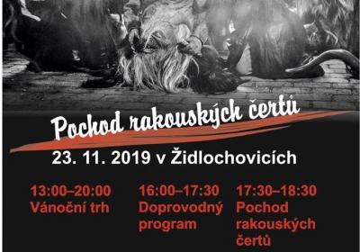 Mikulášský pochod pravých čertů v Židlochovicích 2019