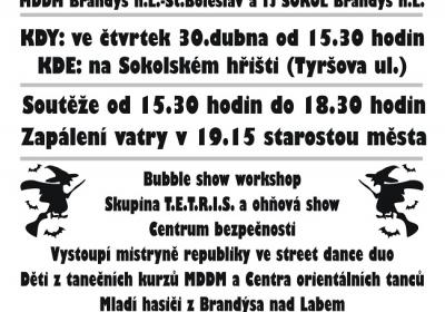 Tradiční čarodějnice - Brandýs nad Labem