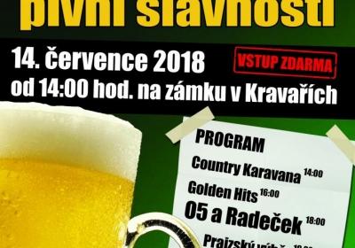 Zámecké pivní slavnosti Kravaře 2018