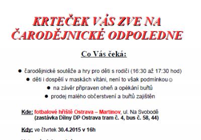 ČARODĚJNICKÉ ODPOLEDNE - MC Krteček