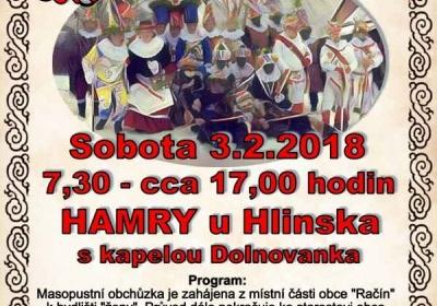 Staročeský masopust Hamry u Hlinska 2018