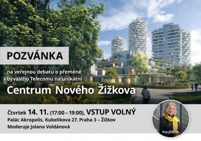 Veřejná debata o přeměně bývalého Telecomu na unikátní Centrum Nového Žižkova