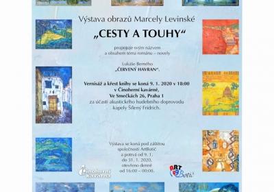 výstava obrazů MARCELY Levinské CESTY A TOUHY