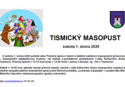 TISMICKÝ MASOPUST 2020